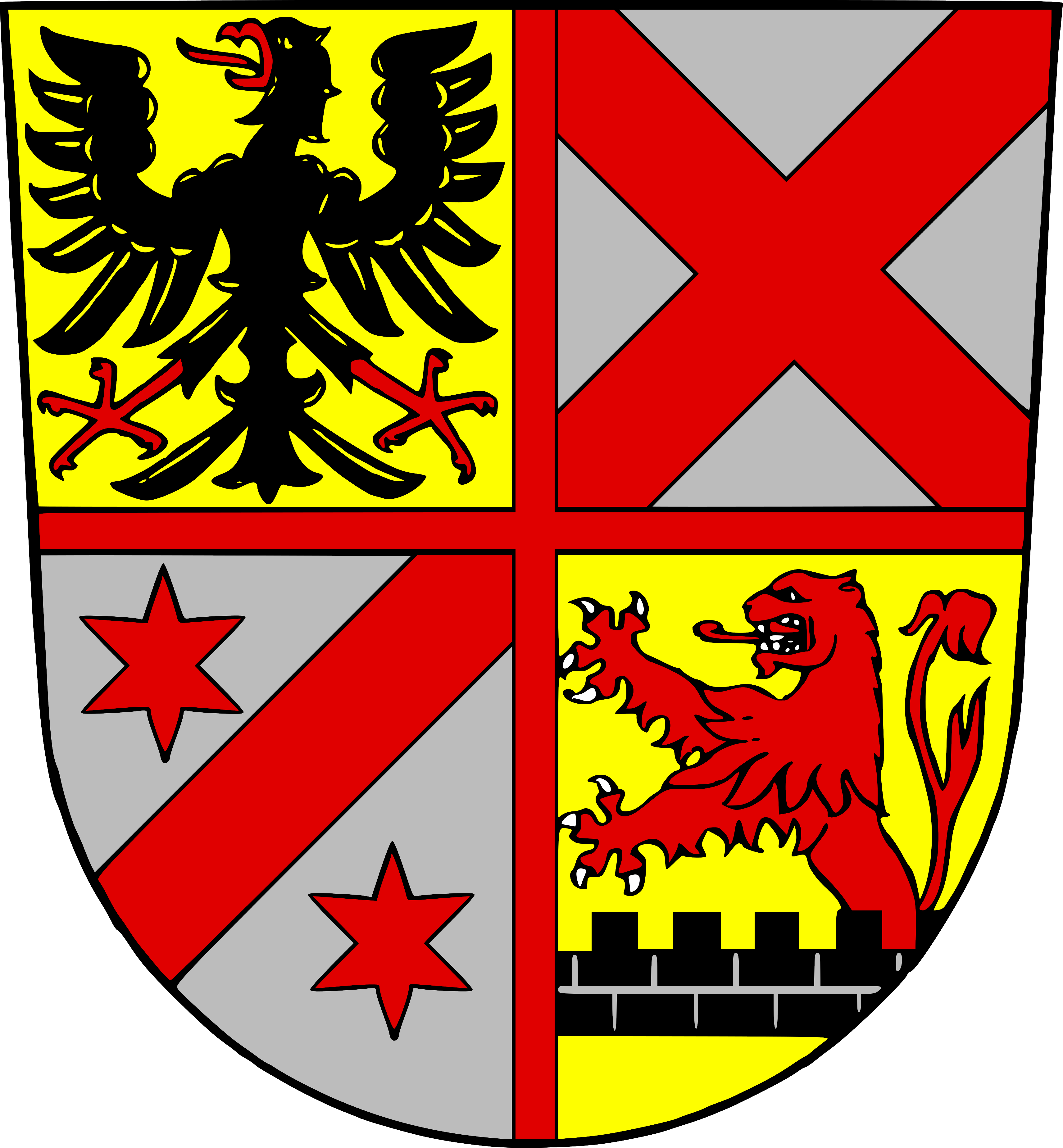 Wappen für den Ortsteil Herzlich Willkommen in Medelsheim! - Gersheim